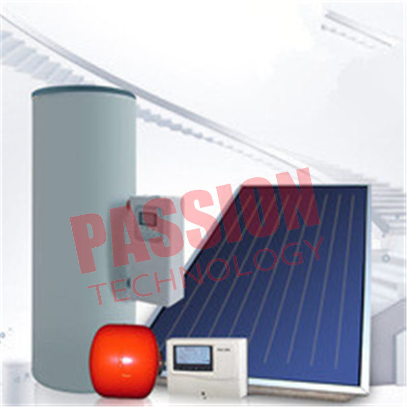 Split Pressurized Solar Water Heater , Flat Plate Water Heater Blue Titanium Coating