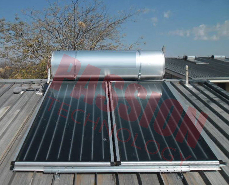 Pressurized Flat Plate Solar Water Heater Rooftop Intelligent Controller High Efficient